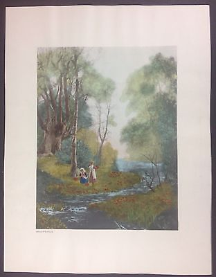 Matched Pair of Vintage Art Prints by Old World Prints, Ltd.