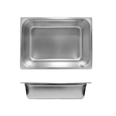 12x Bain Marie Tray / Steam Pan / Gastronorm 1/2 Size 100mm Deep Stainless Steel