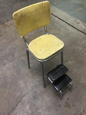 Vintage Mid Century Retro Workshop Cosco Pull Out Step Stool Kitchen Industrial