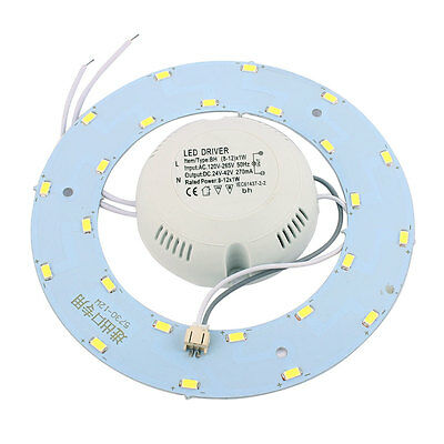 12W 24 LED Light Panel Circle Annular 5730 SMD Saving Plate Ceiling Lamp White