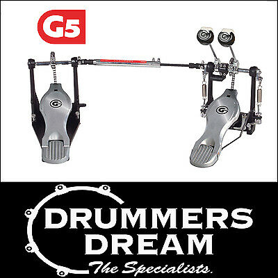 Gibraltar 5711DB Double Bass Drum Pedal - New G5 Model  5 YEAR WARRANTY! NEW