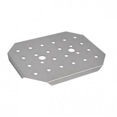 Drain Plate Insert for Bain Marie Tray / Steam Pan, 1/1 GN, Stainless Steel