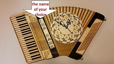 New accordion wall clock for gift HOHNER, WELTMEISTER, DALLAPE,