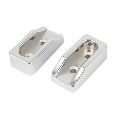 Household Closet Wardrobe Metal Rod End Support Bracket Holder Silver Tone 2pcs