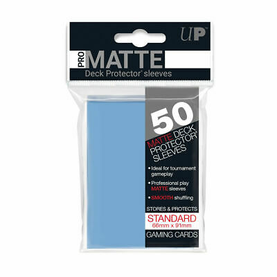 Ultra Pro Deck Protector Sleeves Matte Non Glare LIGHT BLUE Pokemon MTG 50 /Pack