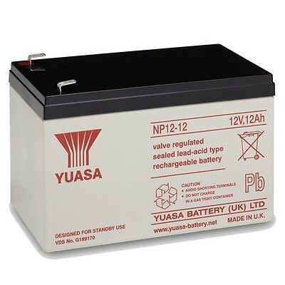 Yuasa NP12-12 12V 12Ah Sealed Lead Acid Rechargeable SLA Industrial Battery