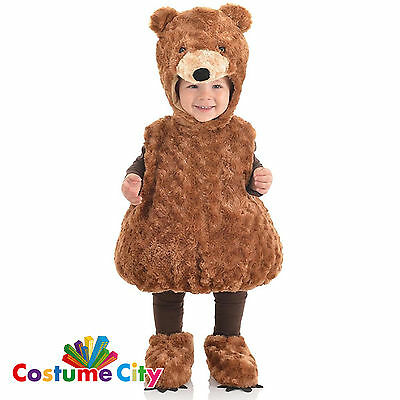 Childs Toddlers Cute Toy Brown Teddy Bear Halloween Fancy Dress Party Costume