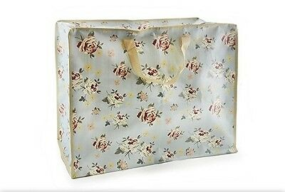 Extra Jumbo Vintage Floral Reusable Laundry Storage Bag With Zip & Carry Handles