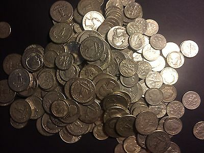SALE $19.00 Quarters Dimes US 90% JUNK SILVER Coin ALL  Circulated ONE 1