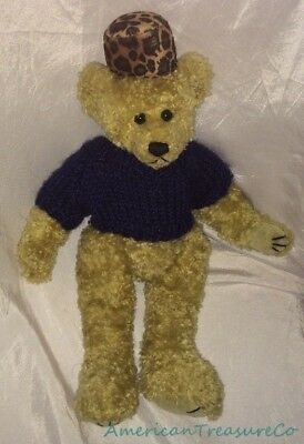 "Rare TY ATTIC Plush Shabby Jointed 12"" ISABELLA The BEAR Leopard Fur Hat Sweater"