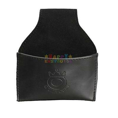 H3E# New Leather Chalk Holder Pouch with Clip Pool Billiards Snooker Cue