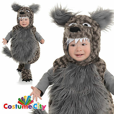 Childs Toddlers Big Bad Wolf Book Week Halloween Fancy Dress Party Costume