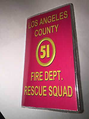 Cool LA County Squad 51 Emergency Firefighter   2016- 2017  2 year Planner Cal