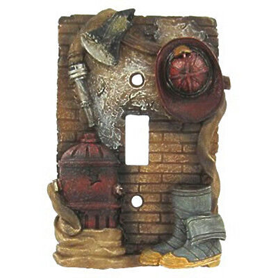Beautiful Firefighter Fire 3-d Light Switch Cover for Your Fire Themed Home