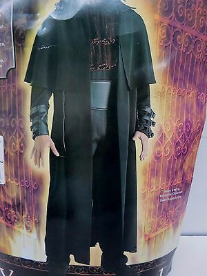 Goth Vampire Lord Halloween Costume Coat Jacket Dark Edgy Black - One Size t26