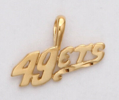 San Francisco 49ers Team Name Necklace Pendant 24k Gold Plated Fan Jewelry