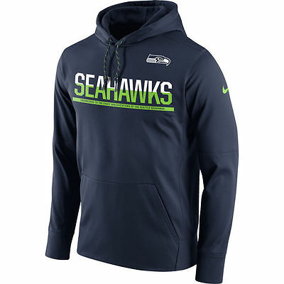 Seattle Seahawk Sideline Circuit Pullover Performance Hoodie NFL Small Football