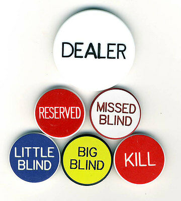 NEW BLOWOUT SALE Casino Grade Items DEALER BUTTON & 5 LAMMERS POKER SET Blinds *