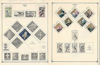 Haiti Collection on Scott International Pages, 1887 to 1988, Around 30 Pages