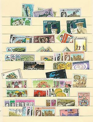 St Vincent Accumulation on 7 Pages, Nice Selection Lot