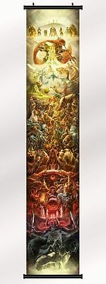 """the legend of zelda 25th anniversary game Fabric scroll  poster 12""""x 63"""" Print"""