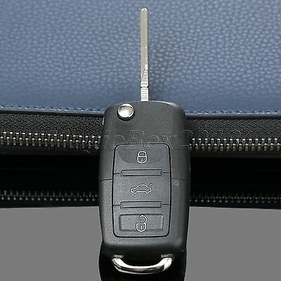 3 Button Floding Flip Remote Key Fob Shell Case For  Golf Passat Polo Jetta