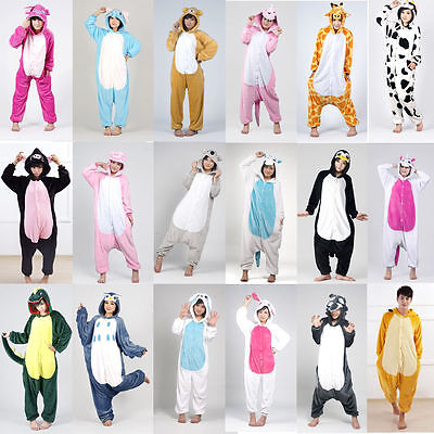 +Hot Sale Adult Unisex Kigurumi Pajamas Animal Cosplay Costume Onesie Sleepwear+
