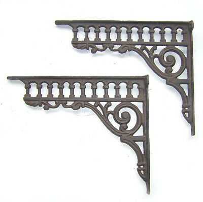 2 Shelf Rack Consoles Nostalgia Antique Gründerzeit Stile Cast Iron NEW