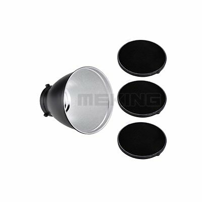 Photography Studio FLash Reflector Kit with Grid/Honeycomb for Bowens Mount