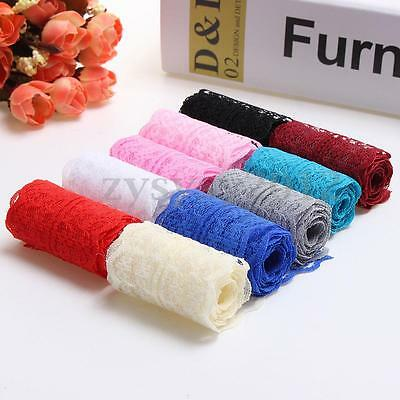10 Yard Multicolor Embroidered Net Lace Trim Sewing Ribbon 4cm Wedding Craft UK