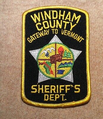 VT Windham County Vermont Sheriff Patch