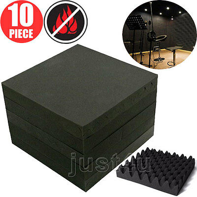 10x Acoustic Foam Egg Panels Tiles Studio Sound Proofing Treatment Absorption UK