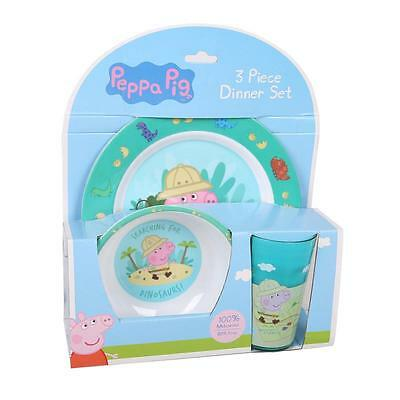 Peppa Pig 3pc Dinner Set George