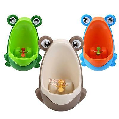 P4PM Cute Boys Kids Stand Vertical Urinal Wall-Mounted Urine Groove Pee Potty T