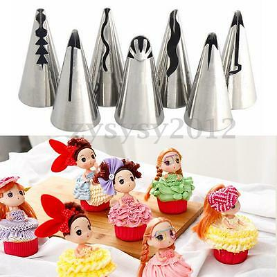 7Pcs Russian Skirt Icing Piping Nozzles Tips Cake Cream Pastry Decoration Tools