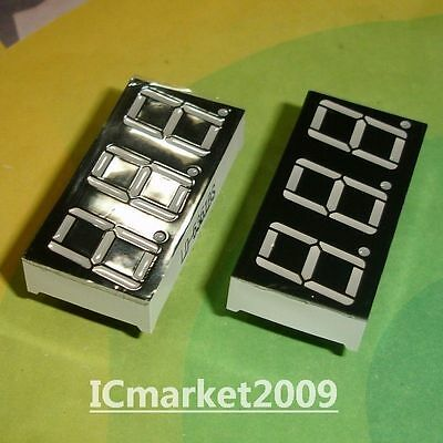 10 PCS 3 Digit 0.56 inch RED NUMERIC LED DISPLAY 7 SEG SEGMENT COMMON CATHODE