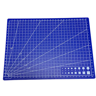 1x A4 Cutting Craft Mat Printed Line Grid Scale Plate Knife Leather Paper Board