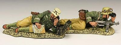 "King & Country Ww11 Afika Korps  ""observation Team"" Ak082 Metal 1.30 Scale"