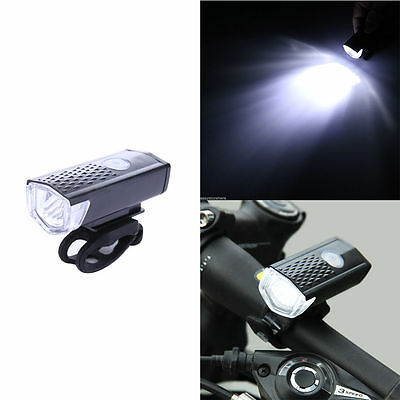 300LM USB Rechargeable LED Front Headlamp Bicycle Bike Light Torch Headlight UK