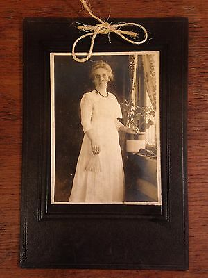 "Vintage Black & White Grandmother Cabinet Card Photo 6"" X 9"""