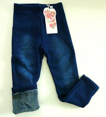 Kinder Winter Leggings Treggings Hose Winterleggings Thermo Warm Jeans 92 98 (4)