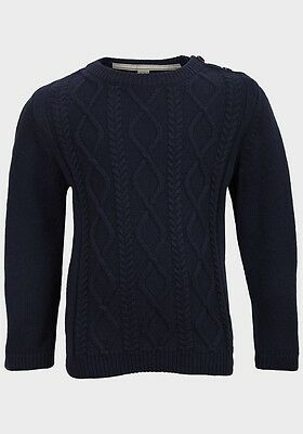 Baby Boys 100% Cotton Top Quality Cable Knit Jumpers - Ex-Uk High Street