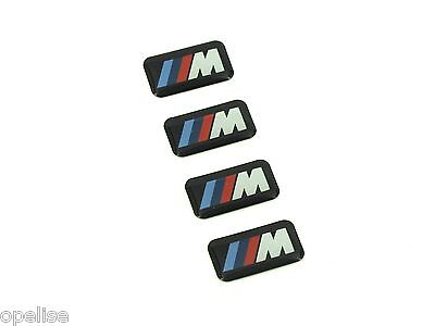 4 x Genuine New BMW M WHEEL BADGE Emblem M-Tech M-Sport Logo M1 M2 M3 M4 M5 M6