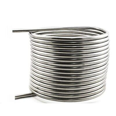 "Herms Coil 1/2"" Stainless Steel X 50' Length - 12"" - 316 Stainless Steel"