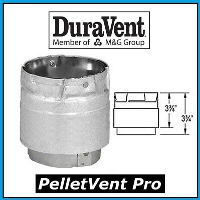 """DURAVENT PELLETVENT PRO Pipe 3"""" Diameter Appliance Adapter #3PVP-AD NEW!"""