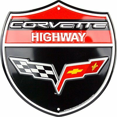 Corvette  Highway Shield Parking Sign Man Cave Garage Den