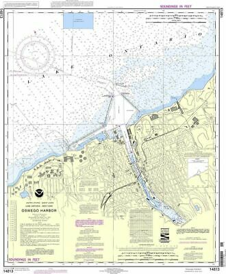 NOAA Nautical Chart 14813: Oswego Harbor
