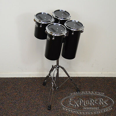 Octobans Set of Four Drums-6 Inch Diameter and 8/10/12/14 in Length-With Stand