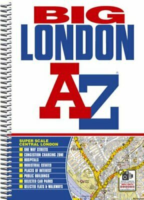 Big London Street Atlas (London Street A... by Geographers A-Z Map  Spiral bound
