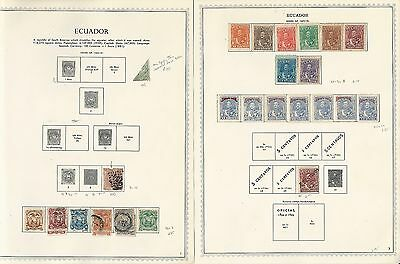 Ecuador Collection 1865 to 1978 on Minkus Specialty Pages, SCV $350, 130 Pages